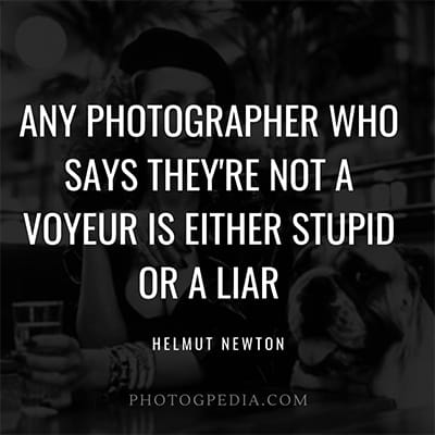 Helmut Newton Quotes Voyuer