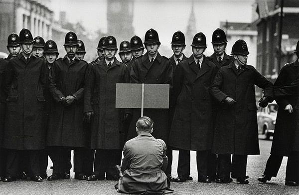 Protestor, London, 1963