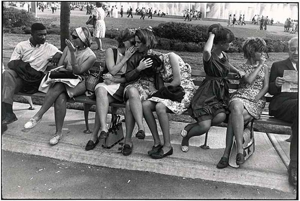 Garry Winogrand, New York, Park Bench