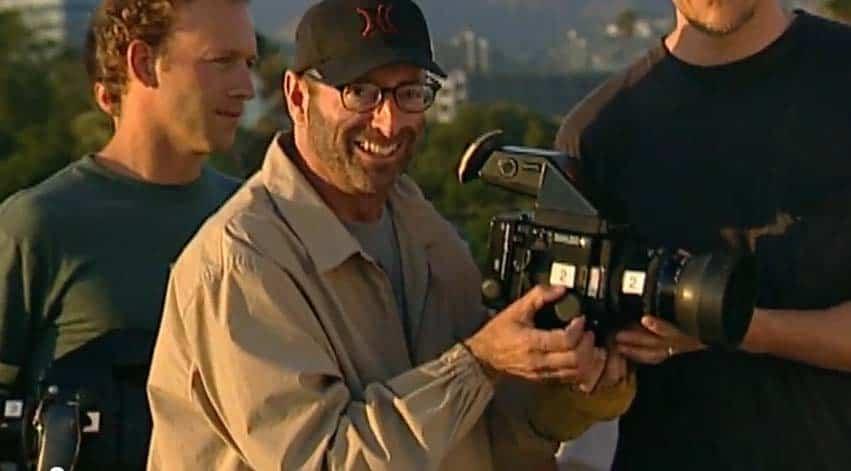 Herb Ritts with Mamiya Camera