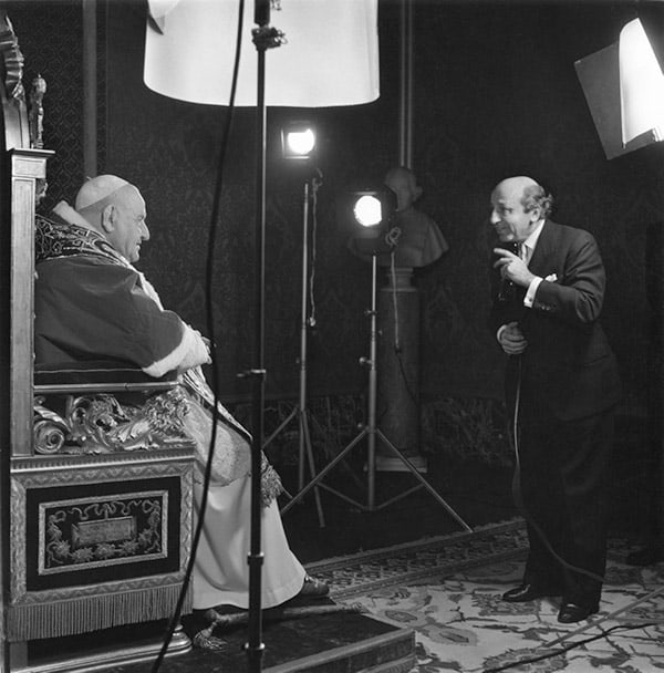 Yousuf Karsh and Pope