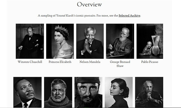 Yousuf Karsh Website