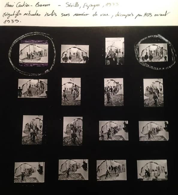 Henri Cartier-Bresson, Contact sheet