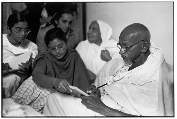 Henri Cartier-Bresson, Gandhi