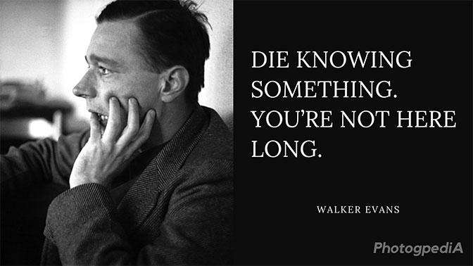 Walker Evans Quotes 2