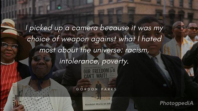 Gordon Parks Quotes, Harlem