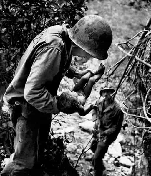 Marine, Wounded Baby